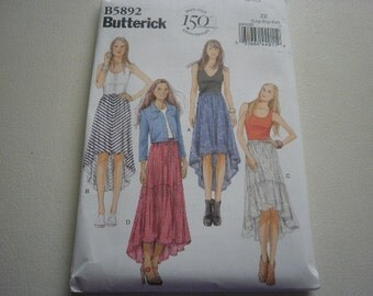 Pattern Womens Plus Size Skirts 4 Styles Sizes 16 to 26 Butterick 5892 A