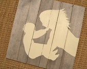 Silhouette Painting on Wooden Panel