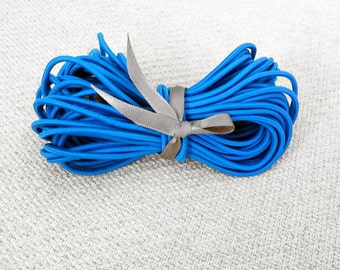 2.5mm Blue Elastic Cord - Choose your length