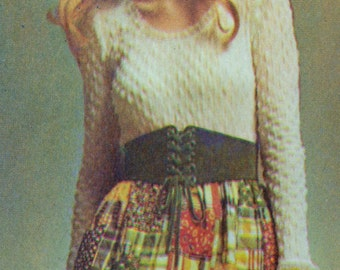 70s Peasant or Boho Style Skirt and Blouse Pattern Size 14 Simplicity 9616