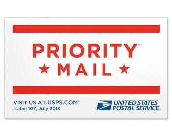 Rush Order and Shipping Upgrade to Priority Mail