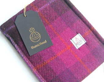 Harris tweed iPad mini case cover sleeve made in Scotland gift women girls Scottish tartan