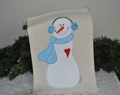 Snowman Large Holiday  Gift Bag