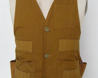 The 1950's Tobacco Brown Crown Hunting Vest