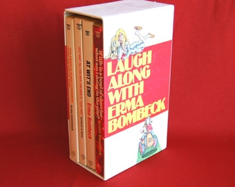 Erma Bombeck Boxed Set of 4 Laugh Along With Erma Bombeck All Time Favorites 1970s Humor