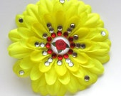 Belle's Rose Sparkly Rhinestone Flower Barrette