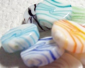 8 Pieces - Candy Disc Swirled Colors