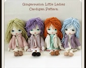 Instant Download PDF Cardigan Pattern for Gingermelon Little Ladies