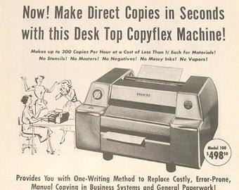 Bruning Copyflex Machine - 1956 Magazine Advertisement