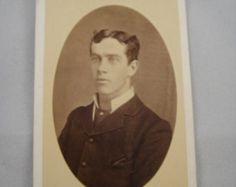 Photograph Young Man Cabinet Card from late 1800s