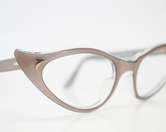 Mink cat eye glasses  vintage cateye eyeglasses frames