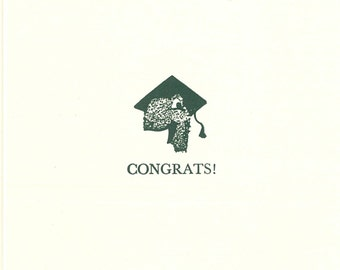 Graduation, Slow and Steady, Turtle, Letterpress Card, Letterpress Graduation, Letterpress Turtle, Graduation Turtle, Graduation Blank