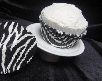 Zebra Striped Cupcake Liners