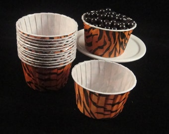 Tigger Stripes  Baking Cups, Candy Cups, Dip Cups, Nut Cups, Weddings, Party Cups, Candy Buffets, Wedding Cupcakes, Favor Cups, QTY 12