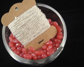 Silver Bakers Twine - 12 ply, 100% cotton Bakers Twine