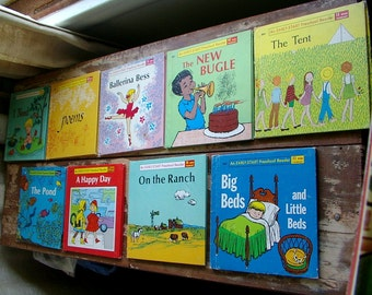 WONDER BOOKS. 9 Preschool Readers. Early Reader POEMS. Ballerina Bess.  Happy Day. Ranch Big Beds Little Beds. 1960s childrens books.