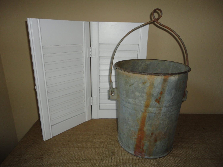 Vintage well bucket galvanized christmas tree by for Galvanized well bucket