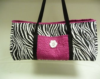 SAFARI STRIPES Tote for Cricut or Silhouette - Expression Tote Bag - Cricut Tote Bag - Silhouette Tote Bag - Carry All Tote - Bag
