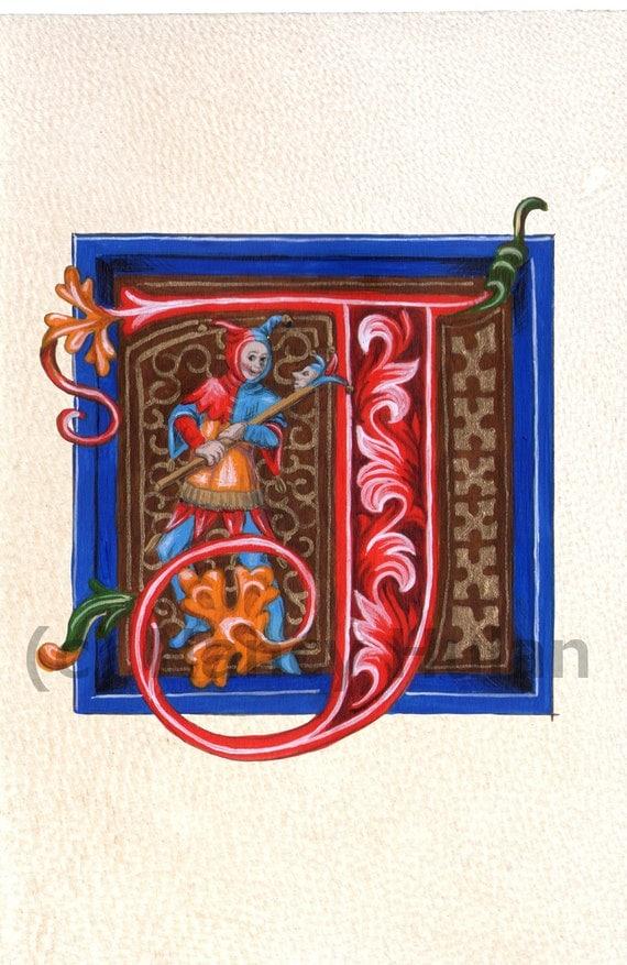 Medieval Illuminated Letters J alphabet letter j medieval illuminated ...