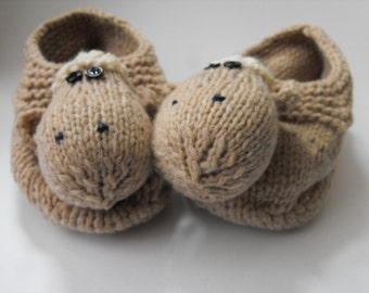 sleepers - hand knitted sheepish sleepers made from recycling wool