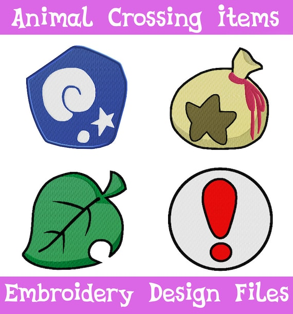 Pes jef files animal crossing items embroidery machine