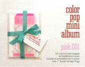 Valentine Day Mixed Media Media Paper Pack Pink Color Pop Mini Album Notebook Kit Smash Art Journal Travel Trip Baby Brag Scrapbook Album