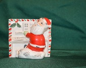 Vintage Napco Piano Playing Santa Planter - Japan