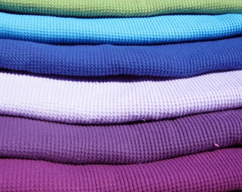 Three Colorful Organic Cotton Thermal Baby Blankets, You Pick the Colors From Mateacogreen