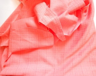 Vintage Fabric, Peach Color Polyester and Unfinished Dress From Fabric