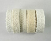 Adhesive Deco Fabric Cotton Lace Roll Tape 3 yards (06-10)