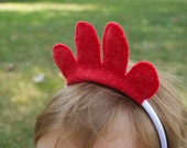 Wool Felt Chicken Headband
