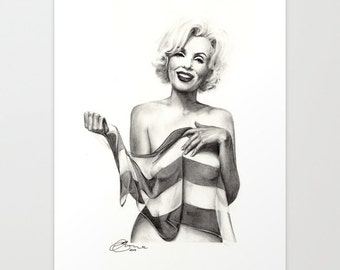 """Marilyn Monroe 1, Print 8"""" x 11.5"""" (A4) - Paint the Moment"""