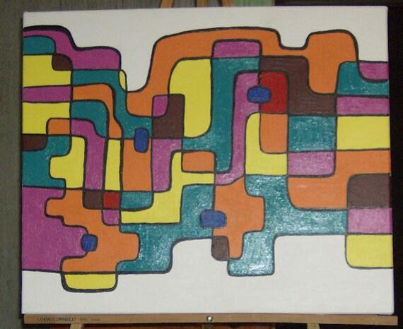 Abstract Art Mosaic Wall Decor Wall Hanging Acrylic Painting