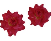24 PCS. 1.75 inches Mini Light Red  Rose flower Craft and Decoration