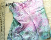 Pink and Blue-Green Silk Camisole Chemise