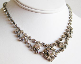 Vintage 50s Marilyn Monroe Rhinestone Jeweled Hollywood Starlet Necklace