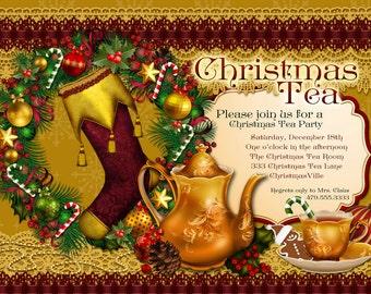 il_340x270.491401452_jdap victorian christmas tea party invitation holiday tea party,Christmas Tea Party Invitations