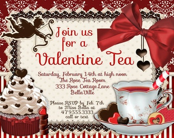 Garden Tea Party Invitation Tea Party Invitations Tea