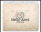 Custom Premade Logo Design - sketch hand drawn camera bird love heart logo photography business logo boutique by princess mi logo1239-6