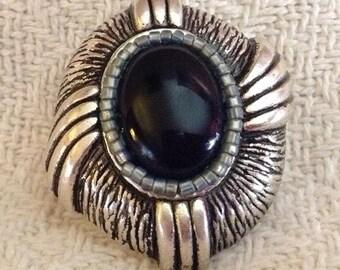 Big Black Twist Ring