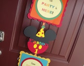 Mickey Mouse Birthday Party Door Sign - Personalized