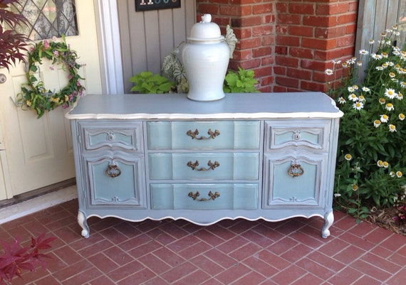Items Similar To Painted Dresser French Provincial Buffet Media Cabinet  Changing Table MADE TO ORDER On Etsy