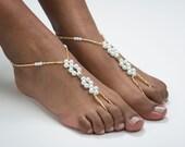 Wedding Barefoot Sandals Destination Wedding Gold Foot Jewelry Beach Wedding Barefoot Sandals