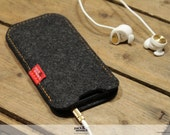 iPhone 5s iphone 5 iphone 5c case cover - ELIE -  100 % wool felt case cover