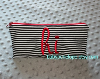 Clearance ** Pencil Case/Cosmetic Bag/ Gadget Case - Hi - Ready to Ship