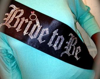 Bachelorette Sash. Bride To Be Rhinestone Sash. Bride Jeweled Sash. Bride Party Sash. Wedding Party Sash. Bride-Sash. Bride-crystal-sash.