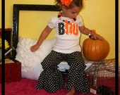 Halloween BOO Ruffle Pant Set ... Infant Toddler Youth Girl Sizes