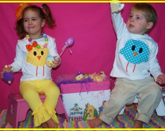 Easter Chick Shirt Girl or Boy - Toddler Youth Sizes