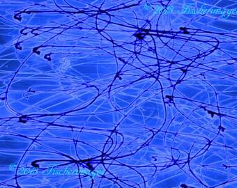 Blue Abstract Swirls Wall Art Home Decor Digital Download Fine Art Photography
