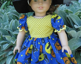 Halloween Costume Dress and Hat for american girl or any 18 inch doll